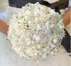 Wedding Flowers For The Bride - new luxury jewelry wedding bouquet high end custom bride bouquet