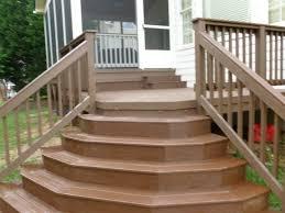 wood front porch steps home design ideas