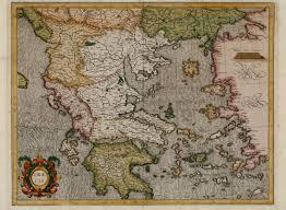 Asia Minor Map by Graecia Mercator Greece Peloponnese Aegean Asia Minor 1589
