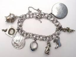 charm bracelet vintage silver images Sterling silver charm bracelet triple link vintage majorette mouse jpg