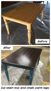 i painted my old kitchen table with general finishes gel stain