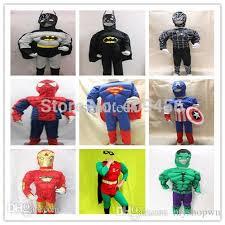 Robin Halloween Costume Men Wholesale Bodysuits Batman Spiderman Captain America Superman