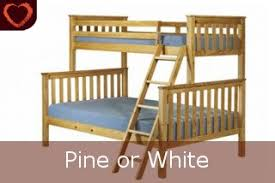 Triple Bunk Bed Antique Natural - Triple bunk bed wooden