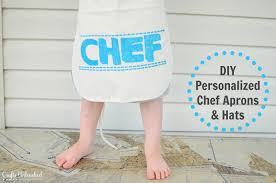 Apron Prints Dress Up For Kids Diy Personalized Chef Aprons And Hats