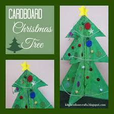 kitchen floor crafts cardboard christmas tree