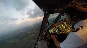 embraer 175 night landing in munich eddm cockpit view gopro hd