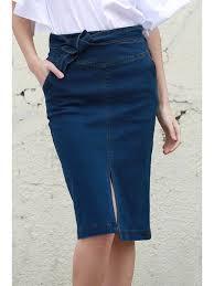 high waisted pencil skirt denim high waisted pencil skirt blue skirts l zaful