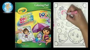 dora coloring book pages crayola color wonder nickelodeon dora the explorer coloring book