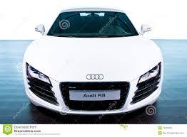Audi R8 White - audi r8 white car stock photo image 72189576