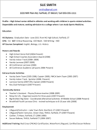 school resume template high school resume template for college application 169838