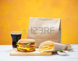 hamburger wrapping paper fast food brown wrapping paper package with copyspace hamburger