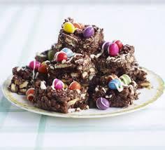 crispy chocolate fridge cake recipe bbc good food