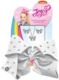 jojo s earrings jojo bows white rhinestone bow earrings necklace jewellery
