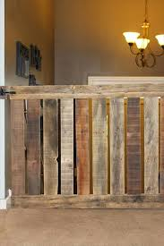 Baby Gate For Top Of Stairs With Banister And Wall Diy Pallet Baby Gate For Your Stairway Baby Gates Stairways And