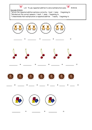 repeated addition worksheets for year 1 la ma u0026 ha by vbanks