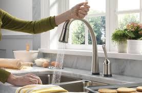 glamorous modern kitchen brass faucet tags modern kitchen