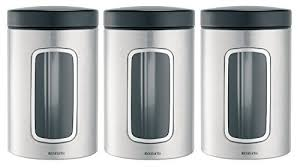 silver kitchen canisters kitchen canisters black and silver amazon com