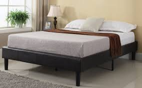 Bed Frame Box Cape Modern Bonded Leather Bed Frame With Slats Sofamania Com