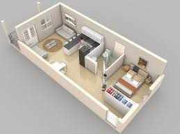 One Bedroom House Plans  Source Crescent Th Street - One bedroom house designs