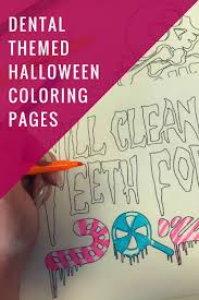 Printable Halloween Pages Diy Dental Themed