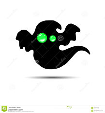 ghost vector halloween spooky illustration cartoon fear stock