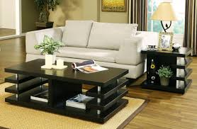 White Painted Coffee Table by Black And White Small Space Interior Living Room Ideas Using Black