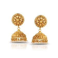 gold jhumka earrings haimi textured jhumkas jewellery india online caratlane