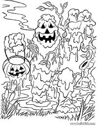 Free Coloring Pages For Halloween To Print by Scary Halloween Coloring Pages Chuckbutt Com