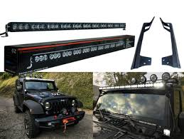 jeep jk light bar brackets hd kit 50 high output led halo rings jk light bar bracket upper