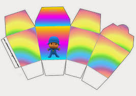 pocoyo with rainbow free printable boxes oh my baby