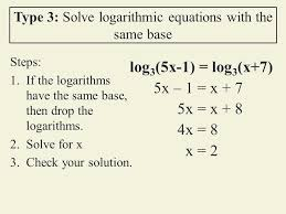 logarithmic equations worksheet in word