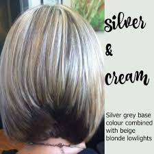 how to do lowlights with gray hair silver cream hair high lights low lights pinterest gray