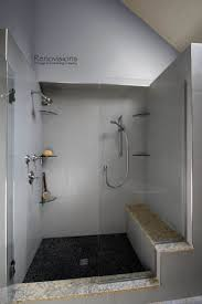 best 25 glass shower shelves ideas on pinterest small bathroom a recently completed master bathroom remodel by renovisions master bath walk in shower
