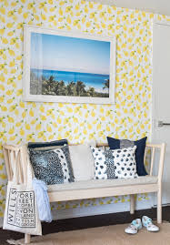 lemon wallpaper my summer entryway makeover bright bazaar by