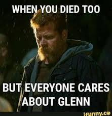 Meme Walking - walking dead meme 22 you died too with glenn comics and memes