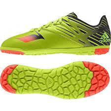 astroturf adidas messi 15 3 astro turf junior football trainers green