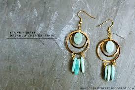 earrings diy diy brass dreamcatcher earrings minted strawberry