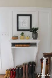 remodelaholic diy built in entryway table with board and batten