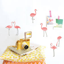 wall stickers french blossom wall decals and removable decals flamingo wall stickers