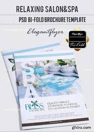 relaxing salon u0026spa v7 bi fold psd brochure template vector