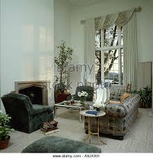 Grey Check Sofa Interiors Eighties Livingroom Grey Stock Photos U0026 Interiors