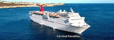 carnival paradise cruise ship sinking carnival paradise vision cruise