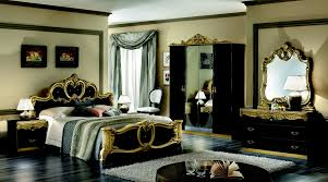 black and gold bedroom furniture trends with dark pictures