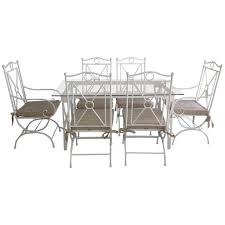 outdoor u0026 garden country style white wrought iron patio furniture