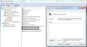 controle de bureau a distance autoriser l accès à un utilisateur bureau à distance