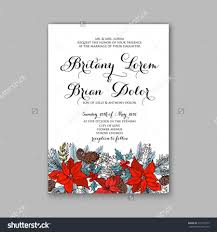 Christmas Invite Cards Floral Wedding Invitation With Winter Christmas Wreath Merry