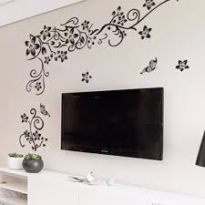home decor wall art stickers diy wall art decal decoration fashion romantic flower wall sticker