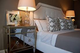 mirror nightstand contemporary bedroom benjamin moore