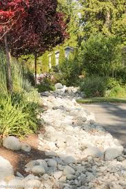 Rock Garden Beds Landscaping With River Rock Garden Beds With Faux 4