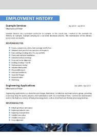 Casual Resume Oil Rig Resume Sample Resume For Your Job Application
